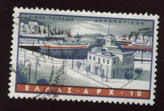 GREECE Scott C74 Used airmail stamp