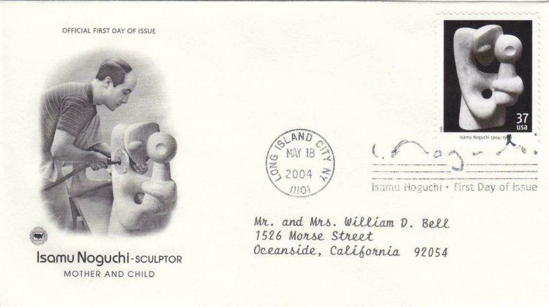 2004, Isamu Noguchi-Mother & Child, PCS, FDC (E9110)
