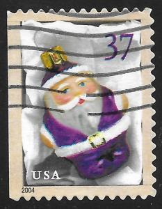 US #3883 37c Christmas Purple Santa Ornament