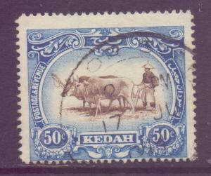 Malaya Kedah Scott 16 - SG10, 1912 Ploughing 50c used