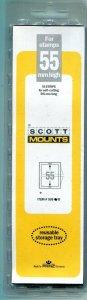 Scott/Prinz Stamp Mounts 215/55 mm Black Background 15 Strips. Free Shipping.