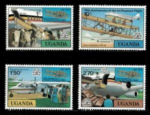 Uganda MNH 211-4 Airplanes 1978