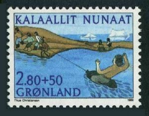 Greenland B12,MNH.Michel 164. Sport Union,1986.Water game.