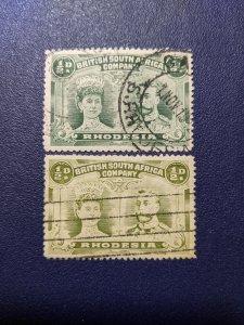 Rhodesia 101,101a VF, CV $8