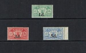 New Hebrides: 1924, Surcharge set, Mint lightly hinged.