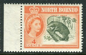 NORTH BORNEO; 1961 early QEII issue fine Mint hinged Marginal value, 4c