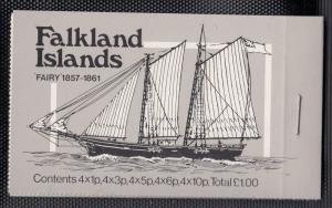 Falkland Islands 1978 Mail Ships Booklet Fairy