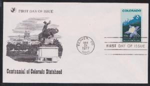 1711 Colorado Centennial Unaddressed Reader's Digest FDC