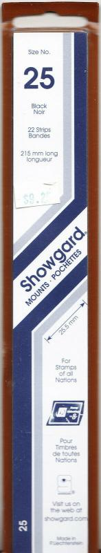 SHOWGARD BLACK MOUNTS 215/25 (22) RETAIL PRICE $9.75
