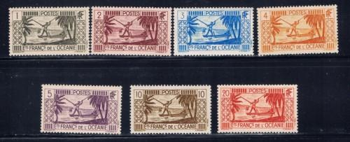 French Polynesia 80-85 and 87 Hinged