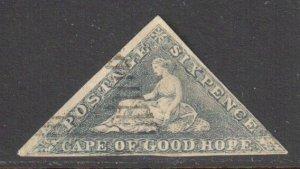 Cape of Good Hope #5b USED Impeforated -- Rare Oneglia Forgery