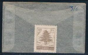 Lebanon 316 Unused Cedar of Lebanon 1957 (L0167)