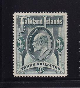 Falkland Is Scott # 28 VF OG mint with nice color scv $ 180 ! see pic !