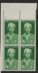 US, 2350, MNH, PLATE BLOCK, 1987, LITERARY ARTS SERIES