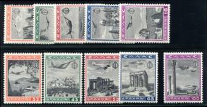 Griechenland C38-C47 Neuwertig Nh (MNH) Luft Post Set, Flugzeuge
