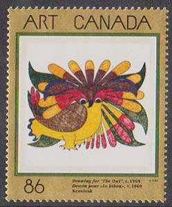 Canada #1466 Mint VF-NH 1993 The Owl Masterpieces of Art