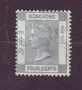 J23655 JLstamps 1882-1902 hong kong mh #38 queen, 2 scans pencil mark on back