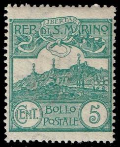 San Marino #42 Mt. Titano; Unused (11.00)