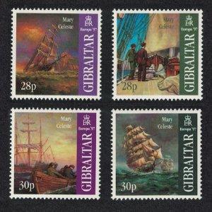 Gibraltar MNH 722-5 Legends Of Mary Celeste Ship 1997
