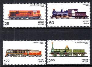 India 719-722 Trains MNH VF