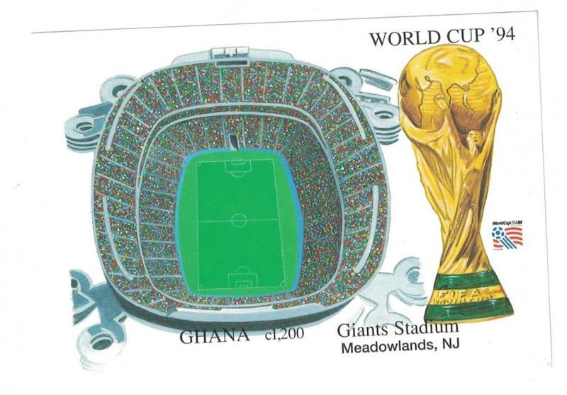 Ghana - World Cup Soccer Giants Stadium 1994 - Sc 1720 S/S MNH IMPERFORATE