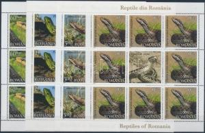 Romania stamp Reptiles mini sheet set 2011 MNH Mi 6485-6488 WS189455