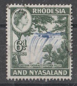 Rhodesia & Nyasaland 1959/1963 QEII Portrait & Various Designs 6p (1/15) USED