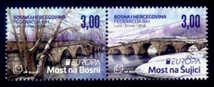 Bosnia & Herzegovina (Croat) Sc# 371 MNH Europa 2018 / Bridges (Pair)