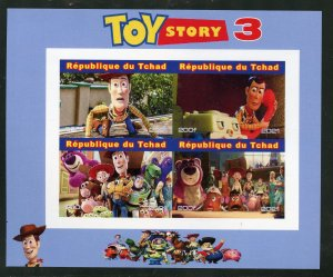 Chad 2021 'Toy Story 3' imperf sheet mint nh