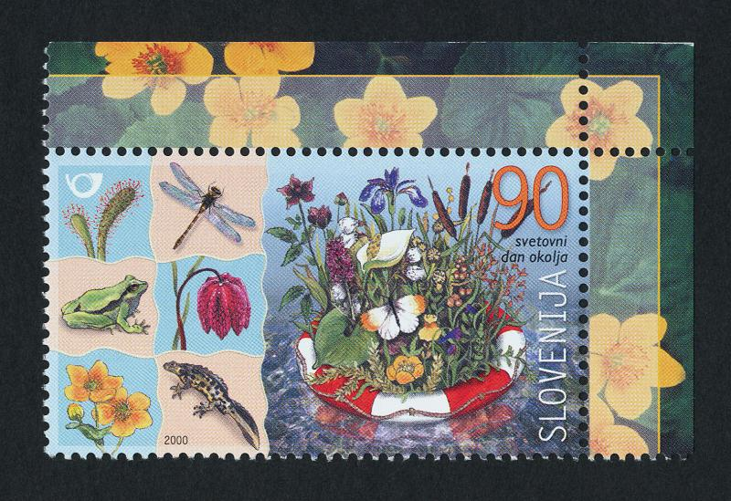 Slovenia 423 MNH World Environment Day, Flowers, Insects, Frog