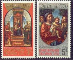 Christmas Island MNH 35-6 1970 Christmas