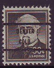 Denver CO, Scott 1049-71 Bureau Precancel, $1 CV