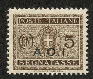 Italian East Africa, Scott #J1, Unused, Hinged