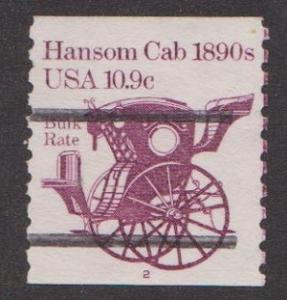 US #1904a Hansom Cab Used PNC Single Plate #2 with Gap