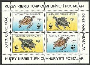 1992 Turkish Cyprus 334-335/B11 Sea fauna 6,00 €