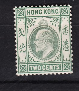 J28264 1903 hong kong mh #72 king wmk 2