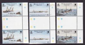 British Antarctic Territory-Sc #285-7-set-Shackleton-gutter