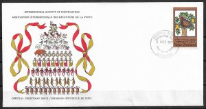 1977 New Zealand Christmas FDC with scarce cachet