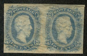 US #CONFED US #11 VF/XF mint never hinged, PAIR, super select,  four nice mar...