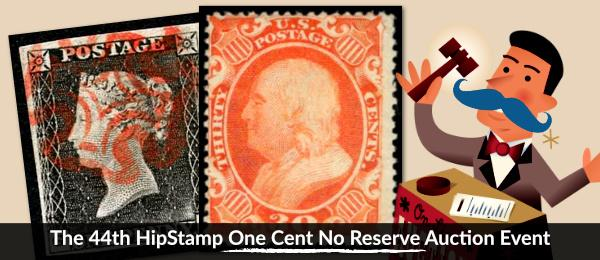 The 44th HipStamp One Cent Auction Event