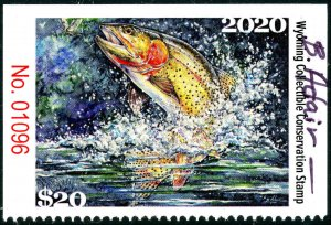 WYOMING #37 2020 STATE CONSERVATION / DUCK STAMP ARTIST SIGNED by Bill Adairid