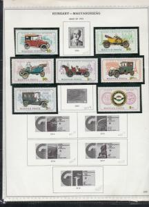 hungary issues of 1975 vintage cars & space etc stamps page ref 18306