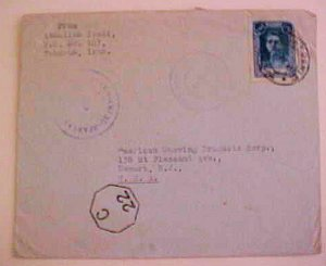 IRAN  1945 TEHERAN TO USA RUSSIAN CENSOR