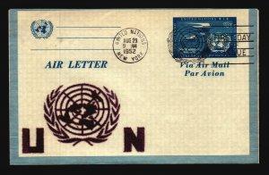 UN 1952 Aerogramme FDC / Velvet Cachet - L3764