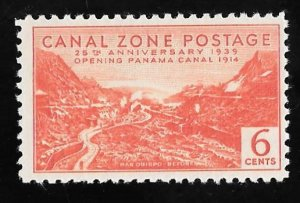 CANAL ZONE 124 6 cents 25th Anniversary Stamp Mint OG NH VF
