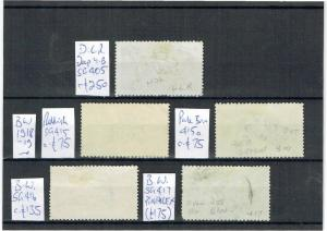 #780 GB GV Sea Horses DLR 1915 & BW 1918-19 values to 10s on card GU c£710+ (5)