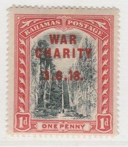 British Colony Bahamas War Tax 1919 Wmk Mult Crown CA 1d MH* Stamp A22P15F8693