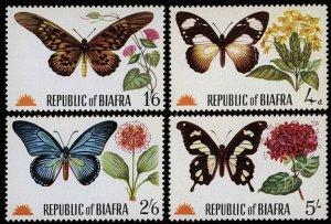 BIAFRA Butterflies VF/MNH-Unlisted by Scott - SG#27-30 - Fresh!