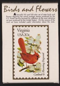 Deck of 50 cards for the State Birds and Flowers issue, Scott 1953 - 2002