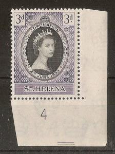 St Helena 1953 Coronation Pl.4 Mint